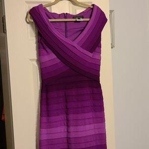 Tadashi shoji purple dress size S